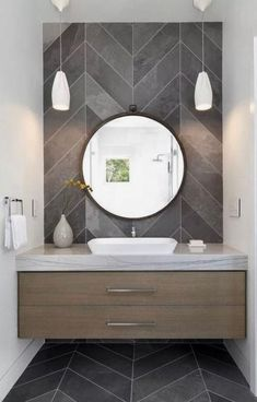 Delicate Contemporary Dark Wood Bathroom Vanity Design Ideas To Have – Bathroom Inspiration Modern Bathrooms Interior, Modern Bathroom Design, Bathroom Interior Design, Interior Decorating, Decorating Ideas, Bath Design, Contemporary Bathrooms, Interior Modern, Contemporary Bathroom Inspiration