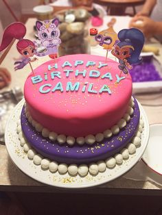 Shimmer and shine birthday cake idea.