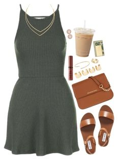 """"""""""" by daisym0nste ❤ liked on Polyvore featuring Topshop, MICHAEL Michael Kors, Steve Madden, Lana, NYX, Cartier, Maison Margiela, River Island, In God We Trust and Givenchy"""