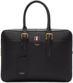 Thom Browne - Black Grained Leather Briefcase