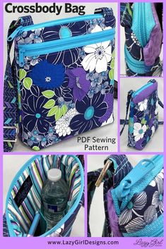 Awesome 100 sewing hacks tips are offered on our internet site. Check it out and you wont be sorry you did. Small Zipper Pouch, Zipper Bags, Pdf Sewing Patterns, Free Sewing, Bag Patterns, Sewing Hacks, Sewing Tutorials, Sewing Tips, Sewing Crafts