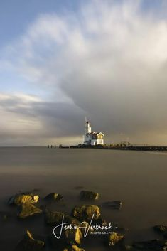 """Dutch waters - Lighthouse """" Het Paard van Marken """" in Holland, long exposure"""