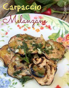 Carpaccio+melanzane+ricetta+facile+light