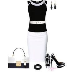 """Black & White Fab..."" by htimss on Polyvore"