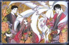 xxxHolic. Clamp. Doumeki, Kohane, Mugetsu (large form) and Watanuki.