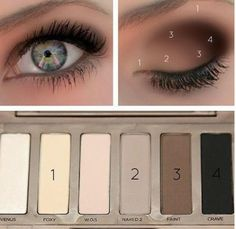 Eye makeup tutorial on how to use palette