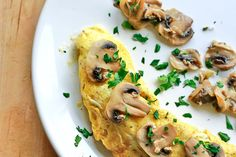 Omlet z pieczarkami | Omelet with mushrooms