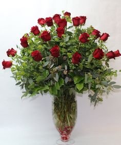 893953865bcef A 36 inch bouquet of twelve long stem ruby red roses or upgrade to our two