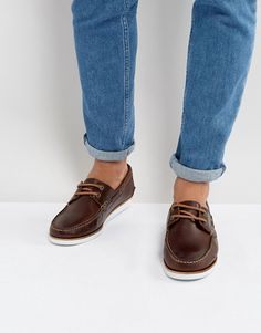 Buy Dark Brown Asos Deck shoes for men at best price. Compare Shoes prices from online stores like Asos - Wossel Global Deck Shoes Men, Men S Shoes, Running Shoes For Men, Brown Boat Shoes, Shoe Sites, Latest Fashion Clothes, Fashion Online, Brown Leather, Real Leather
