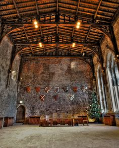 Medieval Great Hall (this one is Caerphilly Castle) Medieval Life, Medieval Castle, Chateau Moyen Age, Welsh Castles, Castle Ruins, Chapelle, Kirchen, Architecture, Renaissance