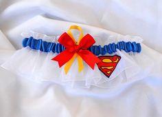 Superman Wedding Keepsake Garter by avysm on Etsy, $14.99