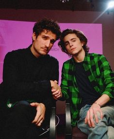 Louis Garrel and Timothée Chalamet Louis Garrel, French Boys, Tim Tam, Timmy T, I Have A Crush, Book Boyfriends, Famous Last Words, Coming Of Age, To My Future Husband