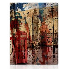 """""""London in Red"""" Graphic Art on Canvas"""
