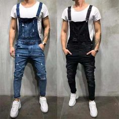 Men's Clothing Humorous 2019 New Fashion Mens Set Casual Jumpsuit Tooling Denim Pants Blue Jacket Jumpsuit Overalls Vintage Singer Costume M--xxl