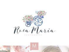 Garden Logo , Floral Logo, Artisan Logo, Floral Boutique Logo, Decor Logo, Florist Logo, Photography Logo, Watercolor Logo