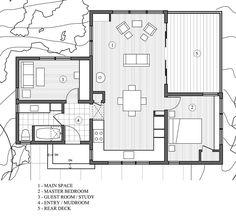 Modern Style House Plan - 2 Beds 1 Baths 840 Sq/Ft Plan #891-3 Floor Plan - Main Floor Plan - Houseplans.com