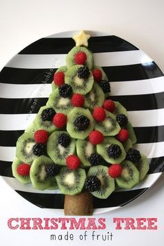 A Christmas Tree Made of Fruit | 23 Christmas Morning Treats Your Family Will Love