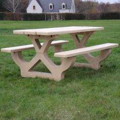Table de Pique-Nique béton Jardin