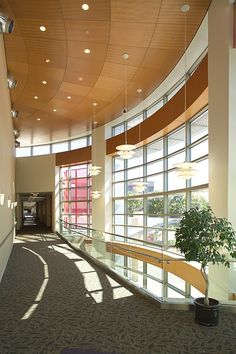 Skywalk leading to the Medical Office Plaza at St. Luke's Hospital.