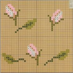 free cross stitch chart - wall paper idea for plastic canvas doll house?