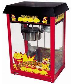 Profi Popcorn Maschine ETON  ET-POP6A-B - Rot/Schwarz - 8oz - 5kg Popcorn pro St