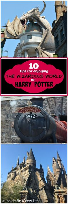 Tips for Enjoying the Wizarding World of Harry Potter - these easy tips will come in handy as you brave the lines and heat at the theme parks