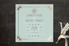 Double Knotted Happiness by Ling for Minted - Bilingual Chinese English wedding invitation