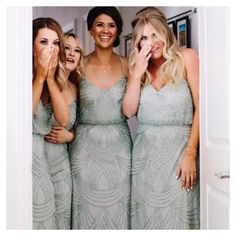 """The Babushka Ballerina Bridal on Instagram: """"Oh what a sweet moment ❤️ and what beautiful Bridesmaids gowns! Lovely ladies our pretty @adriannapapell gowns have just arrived in stores in shades of blush, dusty mint and midnight blue. Book in your Bridesmaids appointment ONLINE or contact our boutiques direct. Brisbane 07 31619554 