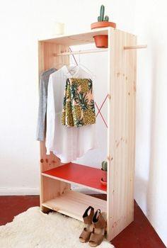 Penderie en bois handmade via Katleen Roggeman