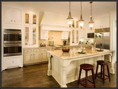 Off White Kitchen Cabinets With Chocolate Glaze