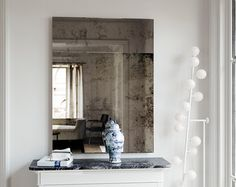 32h x 24w Antique Mirror Trumeau mirror. Frameless