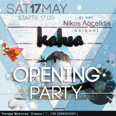 This is NOT to be missed! For all of US & AU visitor at Mykonos.. #kaluamykonos #opening