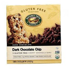 natures path organic gluten free selections dark chocolate chip chewy granola bar.  NATURES PATH has selling natures path organic gluten free selections dark chocolate chip chewy granola bar, 6.2 ounce -- 6 per case. product with good quality at best price. NATURES PATH natures path organic gluten free selections #dark #chocolate #chip chewy #granola #bar, 6.2 ounce -- 6 per case. has one of the most popular and high rank product under grocery & gourmet food category.