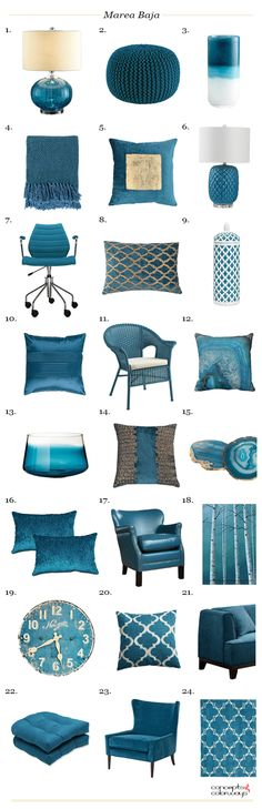 sherwin williams marea baja used in interior design 2017 color trends interior design get the look product roundup interior styling ideas color for interiors blue-green green-blue teal blue peacock blue Interior Design 2017, Interior Design Minimalist, Interior Styling, Cafe Interior, Interior Decorating, Design Loft, House Design, Green Design, Design Apartment