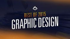"""Just like previous years to we're presenting our personal favorites from our graphic design galleries posted during 2015. In today's """"Best of 2015"""" roundup we've summed up a mix of 37 beautifully desi"""