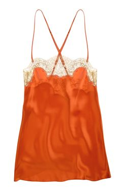 #Silk & #lace cami handmade by Gilda & Pearl. Coming soon to Coco de Mer. #gold