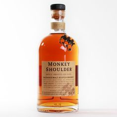 """""""As one of the few remaining whisky distilleries in the world still using manual mixing techniques during the production process, Monkey Shoulder makes a rich and uniquely flavorful blend. This hands-on turning of the barley was once known to cause a temporary ailment for which this whisky is named. Monkey Shoulder has adopted the same time-tested techniques under better working conditions—and without the risk of injury—to create their signature triple malt Scotch whisky."""""""