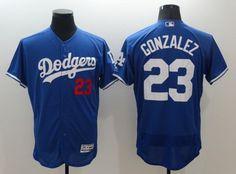 Los Angeles Dodgers #23 Adrian Gonzalez Royal Blue 2016 Flexbase Majestic Baseball Jersey