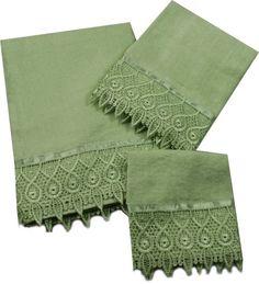 decorative hand towels - Green: Home & Kitchen Decorative Hand Towels, Towel Set, Bath Towels, Home Kitchens, 3 Piece, Linens, Sage, Bathroom, Salvia