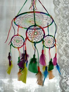 Dream Catcher Mobile by Winchestergems on Etsy                                                                                                                                                     More