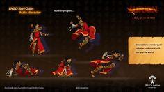 Sprites oh Enzo Kori-Odan, hero of the game Aurion: Legacy of the Kori-Odan