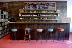 Like the idea of chairs by the shop counter, makes it inviting and relaxed
