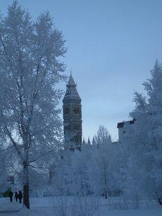 Original pinner: Surgut Big Ben in Winter! - 45 Celsius. in January 2014