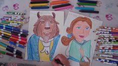 Dibujo de La Bella y la Bestia. Tutorial para niños.