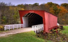 USA, Comté de Madison, Pont couvert ♥