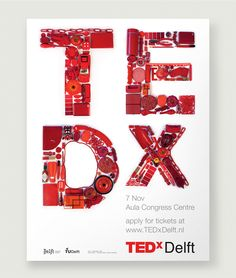 TEDx Delft Poster www.studio-enkelvoud.nl made at Fabrique.