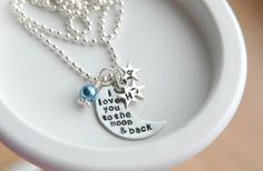 I Love You To The Moon And Back Personalized Necklace 60% off at Groopdealz