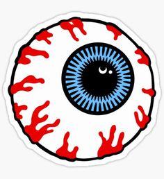 'Eyeball' Sticker by KH-Designs Tumblr Stickers, Cute Stickers, Dark Art Drawings, Flash Art, Cool Patterns, Art Sketchbook, Sticker Design, Collage Art, Vinyl Decals