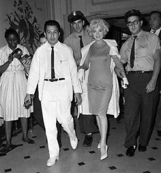 Leaving hospital after gallbladder surgery, July 1961 Makes me feel a bit better. I sure as hell didn't walk out so classy. Not very classy at all :X