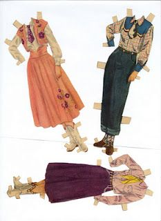 Roy Rogers and Dale Evans* 1500 free paper dolls The International Paper Doll Society Arielle Gabriel artist #QuanYin5 Twitter, Linked In QuanYin5 *